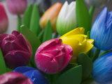 Wood Made Tulips, Rotterdam, Netherlands Photographic Print by Keren Su
