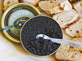 Tin of Black Caviar and Mother-Of-Pearl, Caviar Et Prestige, Saint Sulpice Et Cameyrac Photographic Print by Per Karlsson