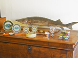 Table of Fish, Caviar, Tins, Glass Jars with Pate Photographic Print by Per Karlsson