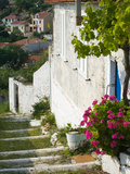 Hillside Vacation Villa Detail, Assos, Kefalonia, Ionian Islands, Greece Photographic Print by Walter Bibikow