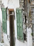 Old Turkish Era Building, Vathy, Samos, Aegean Islands, Greece Fotoprint van Walter Bibikow