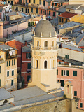 Bell Tower of a Cathedral and Surrounding Buildings, Vernazza, Italy Photographic Print by Dennis Flaherty
