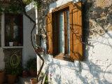 Building Detail, Lesvos, Mithymna, Northeastern Aegean Islands, Greece Fotoprint van Walter Bibikow