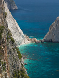 Cliffs at Cape Keri, Zakynthos, Ionian Islands, Greece Photographic Print by Walter Bibikow