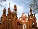 Church of St. Anne in Vilnius, Lithuania Photographic Print by Keren Su
