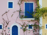 Vacation Villa Detail, Assos, Kefalonia, Ionian Islands, Greece Fotoprint van Walter Bibikow