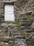 Rock Steps Lead to Old Wooden Door, Vernazza, Italy Photographic Print by Dennis Flaherty