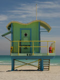 Lifeguard Station on 8th Street, South Beach, Miami, Florida, USA Photographic Print by Nancy & Steve Ross