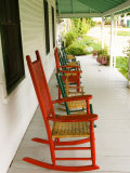 Front Porch, Oakland House Seaside Resort, Brooksville Fotografiskt tryck av Jerry & Marcy Monkman