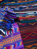Rugs for Sale in Market, San Miguel De Allende, Mexico Fotodruck von Nancy Rotenberg