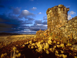 Ancient Inca Tomb at Sunset, Near Lake Titicaca, Peru Photographic Print by Jim Zuckerman