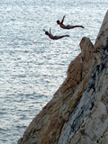 Cliff Divers, Guerrero, Mexico Photographic Print by Russell Gordon