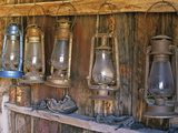 Lanterns Inside Boone's General Store, Abandoned Mining Town of Bodie, Bodie State Historic Park Photographic Print by Dennis Flaherty