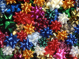 Montage of Multicolored Bows Photographic Print by Steve Terrill