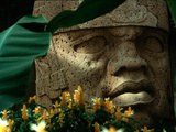 Olmec, Colossal Head, San Lorenzo, Xalapa Museum, Veracruz, Mexico Photographic Print by Kenneth Garrett