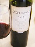 Bottle and Glass of Don David Malbec, Restaurant in Sheraton Hotel, Bodega El Esteco Mendoza Photographic Print by Per Karlsson