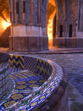 Tile and Columns in Early Morning of the Parroquia Church and the Jardin, San Miguel De Allende Photographic Print by Nancy Rotenberg