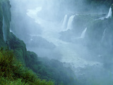 Misty Scenic of Iguasu Falls, Brazil Photographic Print by Jim Zuckerman
