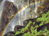 Rainbow at the Base of Bridal Veil Falls, Yosemite National Park, California, USA Photographic Print by Christopher Talbot Frank