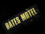 Bates Motel Sign, Coeur d'Alene, Idaho, USA Photographic Print by Nancy & Steve Ross