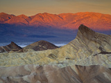 First Light on Zabriskie Point, Death Valley National Park, California, USA Photographic Print by Darrell Gulin