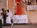 Maya Girls Receive First Communion, Telchaquillo, Mexico Photographic Print by Kenneth Garrett