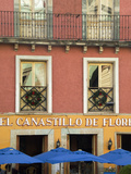 Restaurant Facade and Umbrellas, Guanajuato, Mexico Photographic Print by Nancy Rotenberg