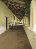 Outside Covered Passageway at the Mission Carmel Near Monterey, Carmel-By-The-Sea, California, USA Photographic Print by Dennis Flaherty