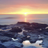 Sunset Cliffs Tidepools on the Pacific Ocean Reflecting the Sunset, San Diego, California, USA Photographic Print by Christopher Talbot Frank