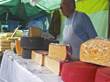Street Market Stall Selling Cheese, Montevideo, Uruguay Photographic Print by Per Karlsson