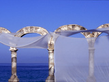 Arches and Sheets of Transparent Gauze Along the Malecon Boardwalk, Puerto Vallarta, Mexico Photographic Print by Nancy & Steve Ross
