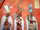 Murals in Mayan Temple, Bonampak, Museum of Mexican History, Monterrey, Nuevo Leon, Chiapas, Mexico Photographic Print by Russell Gordon