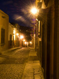 Street Scene Before Sunrise, San Miguel De Allende, Mexico Photographic Print by Nancy Rotenberg