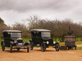 Collection of Vintage Cars, T Fords, Bodega Bouza Winery, Canelones, Montevideo, Uruguay Photographic Print by Per Karlsson