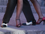 Tango Dancers' Feet, San Miguel De Allende, Mexico Photographic Print by Nancy Rotenberg