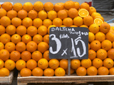 Street Market Stall Selling Oranges, Saltena Puo Jugo, Montevideo, Uruguay Photographic Print by Per Karlsson