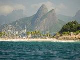 Praia De Diabo, Arpoador Near Copacabana Beach, Brothers Peaks Behind, Rio De Janiero, Brazil Photographic Print by Stuart Westmoreland