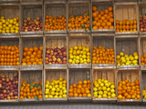 Fruit and Vegetable Shop in Wooden Crates, Montevideo, Uruguay Photographie par Per Karlsson