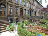 Brownstone in Brooklyn, New York, USA Photographic Print by Lynn Seldon