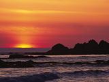 Rialto Beach at Dusk, Olympic National Park, Washington, USA Lámina fotográfica por Charles Sleicher