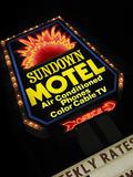 Sundown Motel Sign, Sheridan, Wyoming, USA Fotoprint av Nancy & Steve Ross