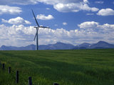 Wind Energy Development, Montana, USA Photographic Print by Diane Johnson
