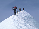 Climbers on Eldorado Peak, North Cascades National Park, Washington, USA Photographic Print by Charles Sleicher