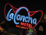 La Concha Motel Sign, Las Vegas, Nevada, USA Photographic Print by Nancy &amp; Steve Ross