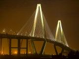 Arthur Revenel Bridge at Night, Charleston, South Carolina, USA Fotografie-Druck von Jim Zuckerman