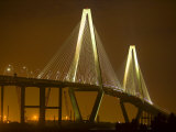 Arthur Revenel Bridge at Night, Charleston, South Carolina, USA Photographic Print by Jim Zuckerman