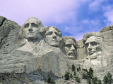View of Mount Rushmore National Monument Presidential Faces, South Dakota, USA Lmina fotogrfica por Dennis Flaherty
