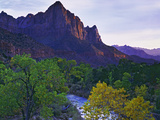 The Watchman Peak and the Virgin River, Zion National Park, Utah, USA Photographic Print by Dennis Flaherty