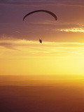 Hang Glider at Sunset, Palouse, Washington, USA Photographic Print by Nancy Rotenberg