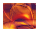 Orange Bubble Collectable Print by  Menaul